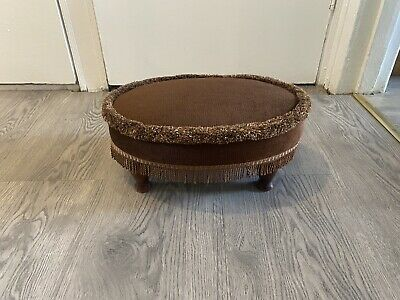 £30 • Buy Vintage Sherborne Brown Oval Footstool Foot Rest Seat With Beautiful Design