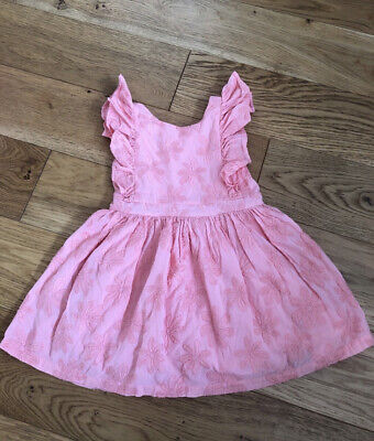 £3.50 • Buy Marks And Spencer Girls Coral Dress. Age 3-4 Years 💕