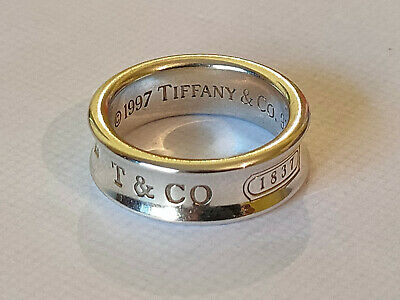£109 • Buy Tiffany & Co 925 Silver Concave Ring Size N FULL UK HALLMARKS.  F, 2005 LOVELY !