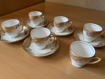 £20 • Buy Antique Minton Bone China Tea Cups And Saucers Pink, White And Gold Pattern