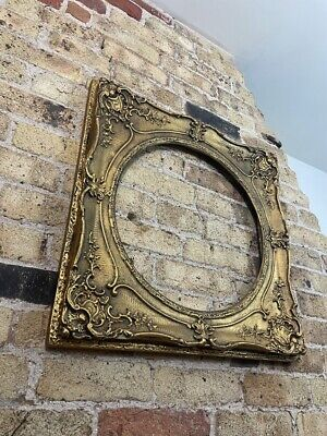 £78 • Buy Antique Rococo / Baroque Picture Frame, Gold Gilt With Oval Aperture, Large