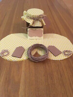 £3.30 • Buy 10 X Gingham Jam Jar Covers,Bands,Ties, Labels & Tags