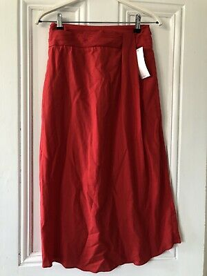 £19.70 • Buy BNWT VINCE Red Midi Skirt Size UK 8 Bought From Net-a-Porter