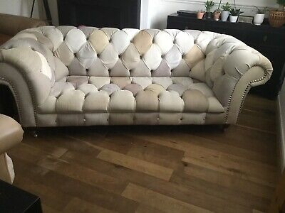 £650 • Buy Large Patchwork Chesterfield Style Sofa