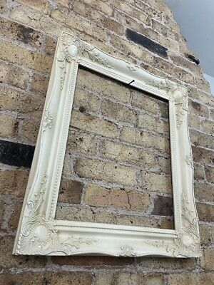 £68 • Buy Rococo / Baroque Ornate Gesso Vintage Picture Frame Chunky Medium - Large, White