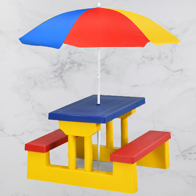 £86.99 • Buy Childrens Picnic Play Table Bench Set + Umbrella Seating Chair Kids Furniture