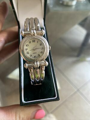£49.99 • Buy Solid Silver Bangle Watch 925 Fully Hallmarked Heavy Weight