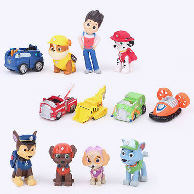 £5.99 • Buy 12pcs Paw Patrol Dog Cake Toppers Action Figures Doll Set Kids Boy Girl Toy Gift