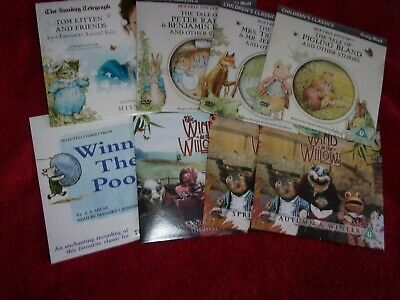 £4.75 • Buy 6 DAILY MAIL CHILDREN`s CLASSICS SINGLE PROMOTIONAL DVD`s + 2 FREE AUDIO CD`s