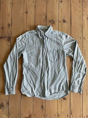 £10 • Buy Gant Rugger Shirt - Flannel- White And Blue - Mens Small