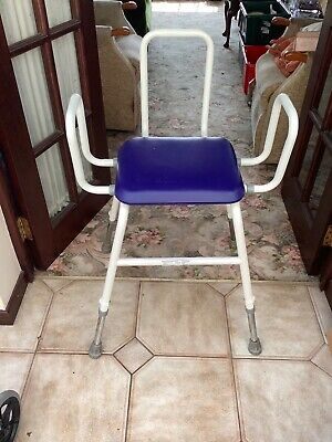 £12 • Buy Perching Stool With Arms Padded Seat And Adjustable Legs