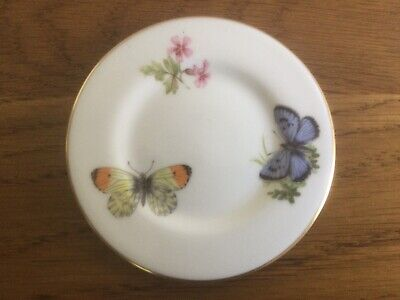 £0.99 • Buy Royal Worcester Fine Bone China Butterflies 1982  Tiny Plate