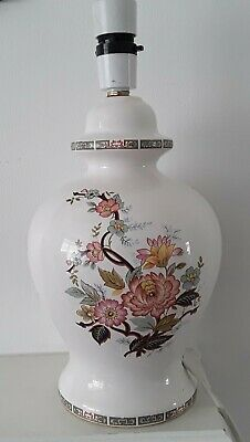 £28 • Buy Chinese Lamp Base Stand White Table/Bedside Vintage Home Lighting Retro Floral