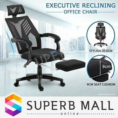 AU159.79 • Buy Executive High Back Office Computer Chair Mesh Recliner Seat Work With Footrest