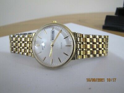 £14 • Buy ROTARY Vintage Gold Plated Day/Date Analogue Quartz Watch - Ref 9880