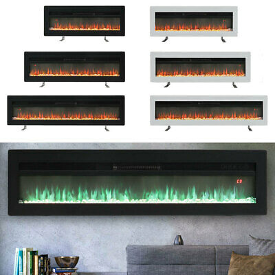 £215.95 • Buy 40 50 60  Electric Fireplace 9 Flame Wall Insert/Hang/Free Standing Stove Heater