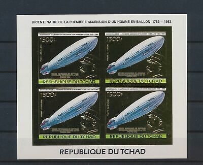 £0.72 • Buy LO41435 Chad Gold Foil Zeppelin Aircraft Aviation Imperf Sheet MNH