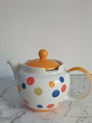 £4.40 • Buy Whittard Of Chelsea Hand Painted Spotted Tea Pot BNWOB
