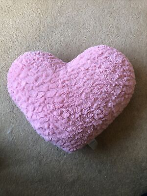 £4 • Buy Pink Heart Shape Cushion, Lovely Condition
