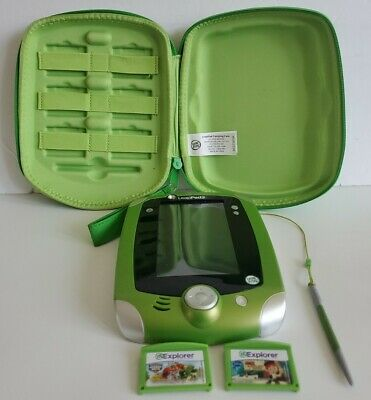 £29.09 • Buy LeapFrog LeapPad2 Explorer Learning System Game Green Edition 2-10 Yrs W/ Case