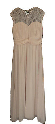 £10 • Buy Nude Pale Pink Occasion Dress By Little Mistress BNWT Size 18 RRP £85