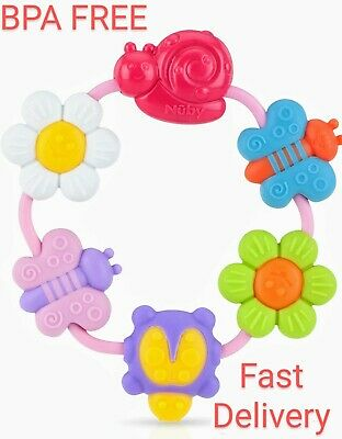 £5.99 • Buy Baby Teether Ring Baby Teether Toy BPA Free DENTIST Approved Nuby