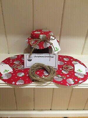 £3.30 • Buy 10 X Christmas Jam Jar Covers,Bands,Ties,Labels & Tags *FREE PERSONALISED LABELS