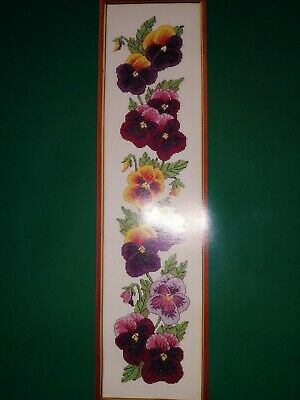 £12.99 • Buy Counted Cross Stitch Kit By The Craft Collection. Pansies Bell Pull Design. New.