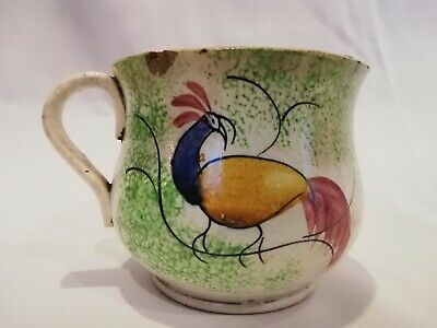 £70 • Buy  Antique Pearlware Spongeware PEAHEN Named Miniature Chamber Pot/cup 'Mary' 1830