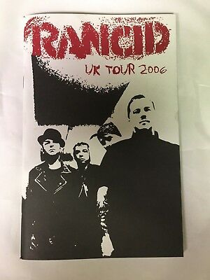 £21.78 • Buy Rancid Uk Tour Diary Book Program 2006 Rare And Out Of Print New
