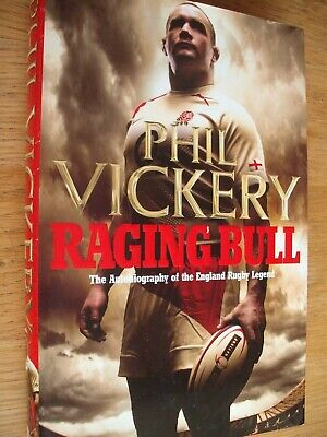£9.99 • Buy Phil Vickery Signed Rugby Autobiography Book - Raging Bull