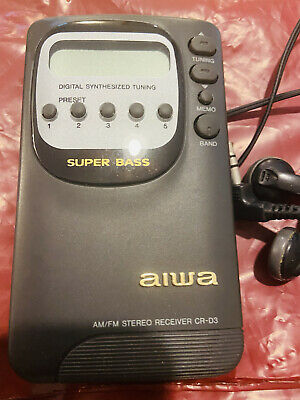 £2.50 • Buy Brand New With Earphones Aiwa Super Base Am/FM Stereo CR-D3