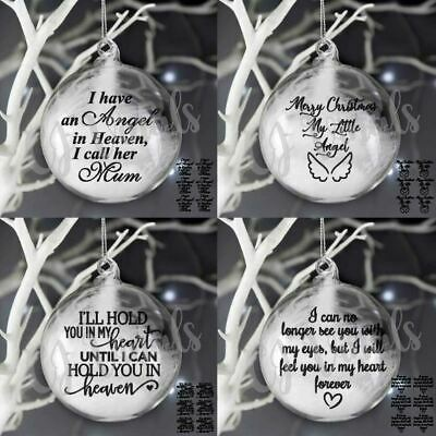£12 • Buy 24 Christmas Memorial Vinyl Decal Stickers For Baubles Crafters Bundle Heaven
