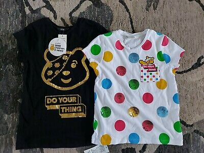£3.50 • Buy 2x Children In Need T-Shirts Size 9-10 Years