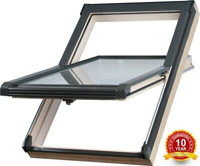 £159 • Buy REDUCED/01 Wooden Timber Roof Window 47 X 78cm Double Glazed Centre Pivot