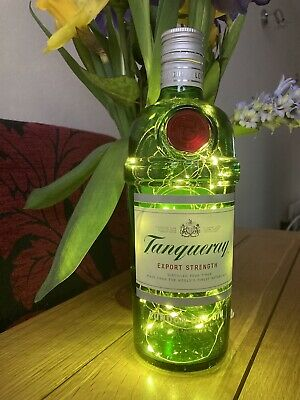 £7.50 • Buy Tanqueray Empty Gin Bottle  With 30 LED White Lights (battery Operated)