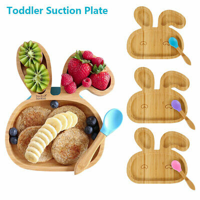 £13.99 • Buy Baby Bamboo Suction Plate Spoon Bowl Set Feeding Suction Plate Stay Multicolor