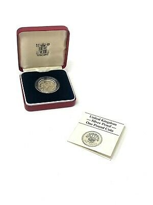 £3.20 • Buy Collectable Vintage Solid Silver U.K Silver Proof One Pound Coin & Box 9.5g #65