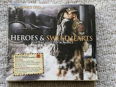 £5 • Buy Heroes And Sweethearts Compilation 2 CD + DVD Box Set Romantic Wartime Classics