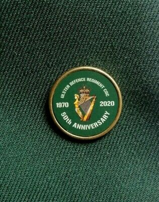 £5 • Buy UDR 50th Anniversary Lapel Pin Badge 25mm (Ulster Defence Regiment, CGC)