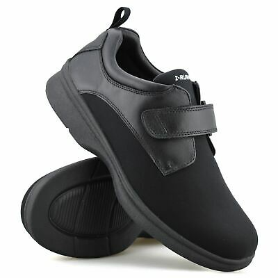 £27.98 • Buy Mens Leather Wide Fit Memory Foam Casual Smart Walking Work Trainers Shoes Size