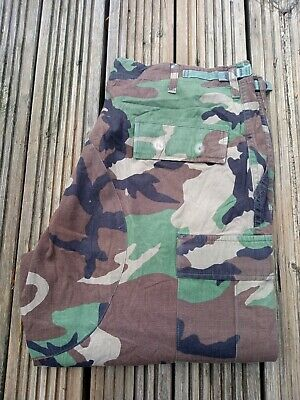 £6 • Buy Us Military Woodland Camouflage Combat Trousers Forces Issue Large 36-38  Reg