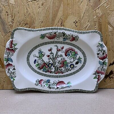 £4.50 • Buy Vintage Johnson Bros Brothers Indian Tree Rectangular Serving Cake Plate Tray