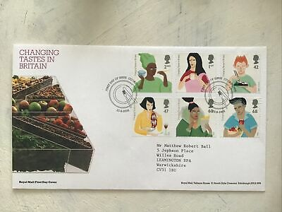 £2.25 • Buy GB QEII 2005 Changing Tastes RM FDC Cookstown Plate Knife And Fork SHS T/Add W/I