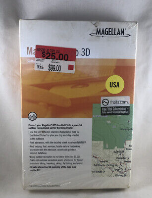£7.26 • Buy NEW/SEALED- Magellan MapSend Topo 3D Software - For GPS Handheld- USA.