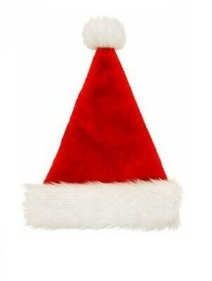 £2.99 • Buy Deluxe Red Father Christmas Saint Nick Plush Santa Claus Hat