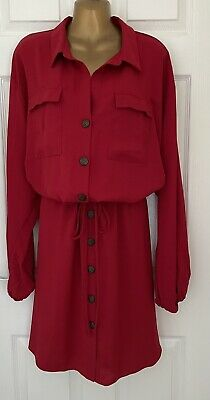 £4.99 • Buy Red Tie Waisted Shirt Dress From Jd Williams Size 30