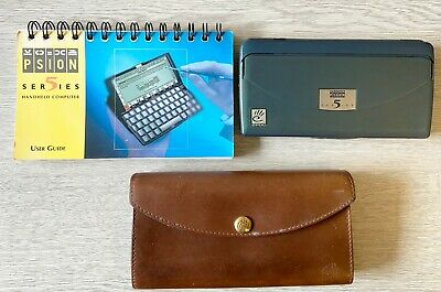 £100 • Buy Psion Series 5 (green Case) With Rare Mulberry Leather Case And Instruction Book