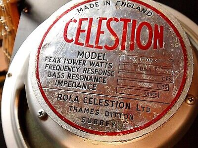 £295 • Buy Celestion Thames Ditton T1073M Vintage Guitar Speakers - Immaculate Pair