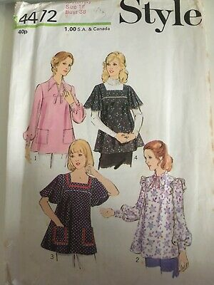 £0.99 • Buy Vintage Style Sewing Pattern Top Size 16 Bust 38